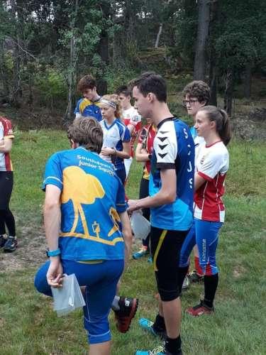 A bit of training near the club hut